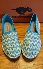 ROCKET DOG HENNA SLIP ON FLATS IN TURQUOISE LADIES SIZE 11 M NEW IN BOX