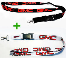2x GMC LANYARDS NECK STRAP KEY CHAIN HIGH QUALITY 22 Inch BLACK & WHITE