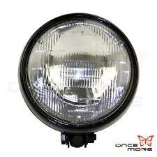 """Motorcycle Bates 5.75"""" Black Bottom Mount Headlight Spot Light For Custom Bobber"""