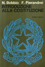 A6 Introduzione alla costituzione Bobbio Pierandrei Laterza 1976