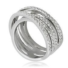 Swarovski Spiral Silver-Tone Ring 1156307