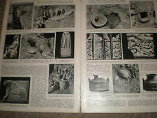 Photo article archaeology Hazor Israel 1956 ref Z