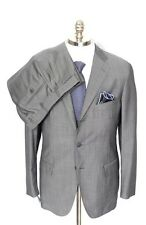 BELVEST Gray Wool Cashmere Silk Unconstructed Rolling 3Btn Suit 52 7R 42 R NWT