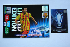 Lionel Messi XXL Limited Edition Panini Adrenalyn XL Champions League 2013/14