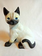 Siamese Cat Music Box Plays Memories From Broadway Show Ceramic MSR Imports