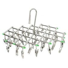 Stainless Steel Laundry Drying Rack 35 Clips Folding Underwear Bra Sock Hanger