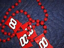 Halloween, Mardi Gras, party beads,red,Dale Earnhardt Jr. #8 beads,discontinued