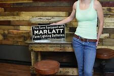 Marlatt Battery Farm Tin General Store Poultry Dairy Advertising Sign RARE