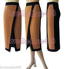 Womens Front Split Celebrity Wear to Work Party Wiggle Pencil A Skirts Dress (M)