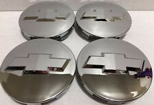"4 Pcs Chevy, Center Cap, Chrome Mirror, 83 MM, Wheel 18"" 20"" 22"" Colorado Tahoe"