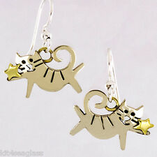 Far Fetched Starlight Kitty Cat EARRINGS Alpaca Silver Mima & Oly - Gift Boxed