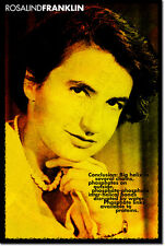 ROSALIND FRANKLIN ART QUOTE PRINT PHOTO POSTER GIFT DNA RNA BIOPHYSICS