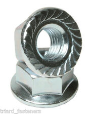 M4 (4mm) Serrated Hexagon Nut with Toothed Flange A2 stainless DIN 6923 - 20PK