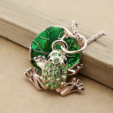 Fashion gold plating Lotus leaf and frog sweater chain long necklace KB267
