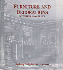 Sotheby's Los Angeles - Furniture and Decorations  Nov 15-16, 1976