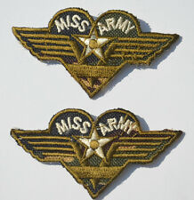2PCS MISS ARMY MILITARY WINGS (FAULTY) EMBROIDERED IRON ON  PATCH BADGE APPLIQUE