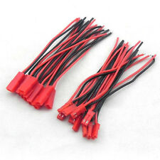 10 Pairs 2 Pin JST Plug Socket Connector Cable Red Black Wire M to F 210mm leads