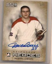 JACQUES LEMAIRE 2014-15 ITG HEROES & PROSPECTS AUTO #'d 3/5