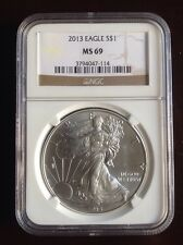 2013 $1 Silver Eagle MS69 NGC certified