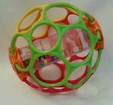 "Kids II 6"" Oball Rollin Rainstick Rattle Baby Ball BPA Free Baby Toy"