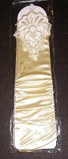 NEW Long PALE GOLD Satin FINGERLESS RUCHED Gloves w/ BEADS & SEQUINS ~ One Size