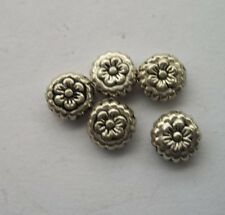 50 pcs Tibetan silver flowers Charm Spacer beads 7.5x4 mm