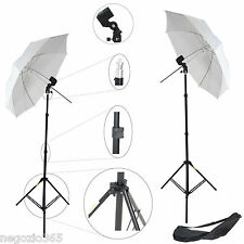 2x Kit Studio Foto Video Cavalletto Stativo, Portalampada, Ombrello x Luci Flash