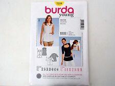 BURDA SEWING PATTERN # 7218 WOMEN'S BLOUSE SIZES 6 THRU 18