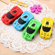 2X cartoon Removable car shape Erasers Rubbers Stationery Children Gift
