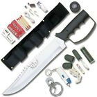Fixed Blade Hunting Camping Tactical Survival Knife w/sheath, Kit & Compass NEW