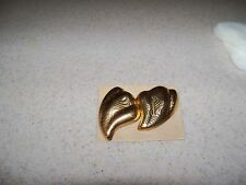 Vintage New Avon 1987 Breathless Pierced Earrings Gold Tone Surgical Steel Posts