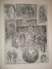 Play Merchant of Venice at the Garrick Theatre London 1905 print