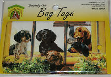 Dachshund Dogs Bag Tag Silicone Suitcase Travel Luggage USA Made New Doxies