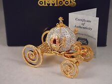 "Disney Parks Authentic ""CINDERELLA COACH"" Jeweled Figurine By ARRIBAS-SWAROVSKI"