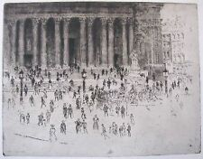 BARGAIN JOSEPH PENNELL AMERICAN ETCHING THE PAVEMENT ST PAUL'S LONDON 1905