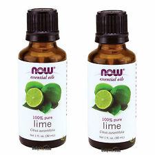 2 X NOW FOODS 100% PURE LIME ESSENTIAL OIL 1 OZ, FRESH, MADE IN USA