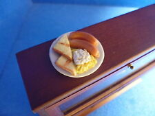 1 /12 scale Dolls House Minature  Breakfast Plate    DHD-BJ9/6