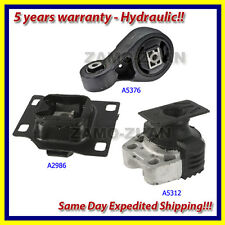 05-07 Ford Focus 2.3 Engine Motor & Trans Mount Kit 3PCS. A5312 A5376 A2986