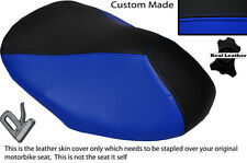 BLACK & R BLUE CUSTOM FITS YAMAHA AEROX YQ 50 100 99-10 FRONT LEATHER SEAT COVER