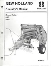 New Holland 850 Round Baler Operator Manual 42085013