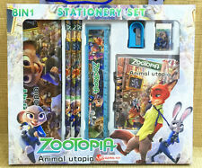1box children Zootopia eraser ruler color Pencil pencil case 8in1 stationery set