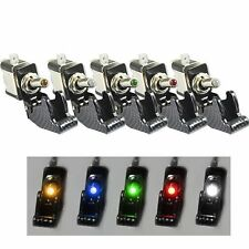5pcs Color LED illuminate Rocker Toggle Switch On Off 12V 20A Car Van Dash Light