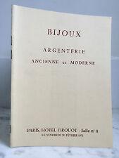 Catalogue de vente Bijoux Argenterie Ancienne et moderne  28 Février 1975