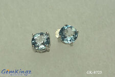 Clearance 2 Ct Blue Topaz  Stud Earrings Clearance