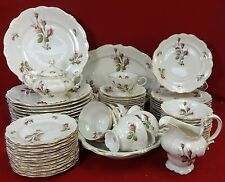 ROSENTHAL china MOSS ROSE pattern 74-piece SET SERVICE for Twelve (12) + Serving