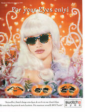 PUBLICITE ADVERTISING 074  1992  SWATCH EYES  collection lunettes