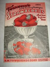 1934 Townsend's Strawberries Catalog Salisbury, MD with Mailer - VGC