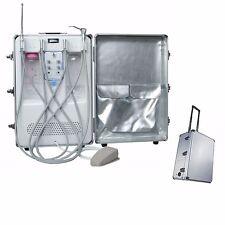Portable Dental Turbine Delivery Unit Cart +Air Compressor Suction 3-way Syringe