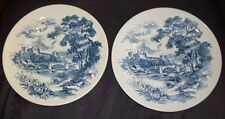 """Set of 2 Vintage Wedgewood & Co Countryside Dinner Plates- England, 9.75""""D"""