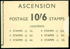 ASCENSION : 1963. Birds. Bklt Cplt, Unopened & VF, MNH. All panes are INVERTED.